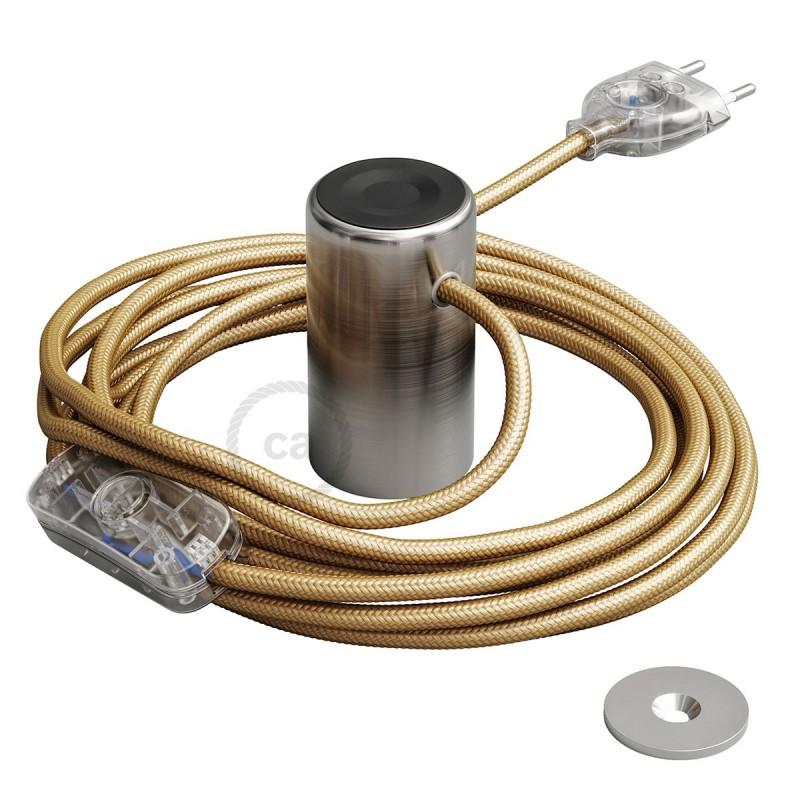 Μαγνητικό Ντουί Magnetico®-Plug Ασημί με διακόπτη, φις και καλώδιο, έτοιμο για χρήση