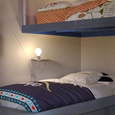 Ράφι Μεταλλικό Λευκό Magnetico®-Shelf, για ντουί Magnetico®-Plug
