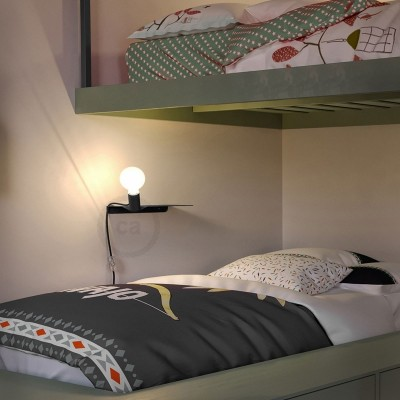 Ράφι Μεταλλικό Μαύρο Magnetico®-Shelf, για ντουί Magnetico®-Plug