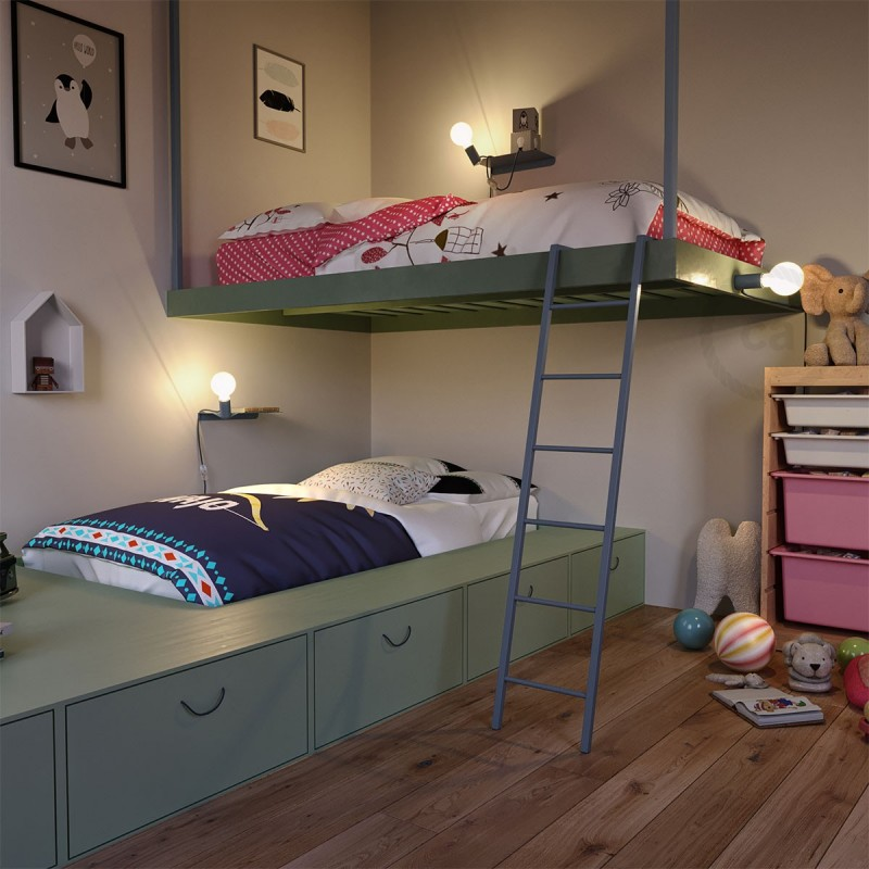 Ράφι Μεταλλικό Πράσινο Magnetico®-Shelf, για ντουί Magnetico®-Plug
