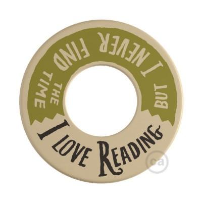 MINI-UFO: Ξύλινος Δίσκος διπλής όψης READING BALLSH*T, επιγραφή 2 PAGES + LOVE READING