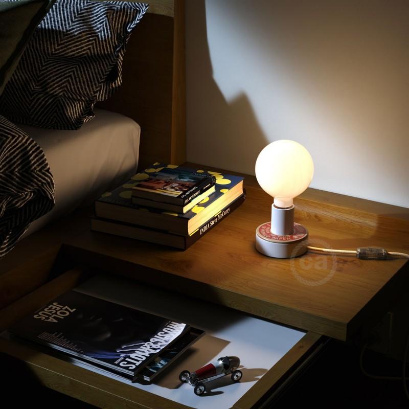 MINI-UFO: Ξύλινος Δίσκος διπλής όψης READING BALLSH*T, επιγραφή PAGE + SCENT OF PAPER