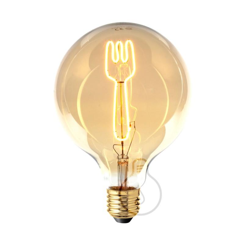 LED Λάμπα Γλόμπος G125 Masterchef Πιρούνι Filament 4W Dimmable 2000K