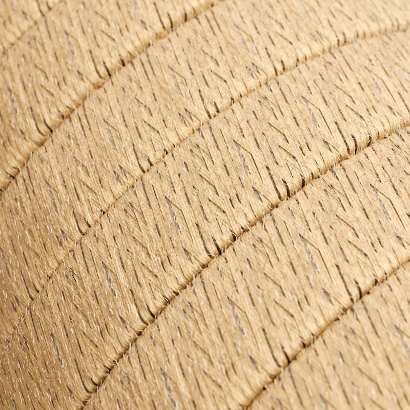 Γιρλάντα έτοιμη για χρήση, 7,5m υφασμάτινο καλώδιο πλακέ Φυσικό Σχοινί Γιούτα CN06 με 5 ντουί, γάντζο και φις