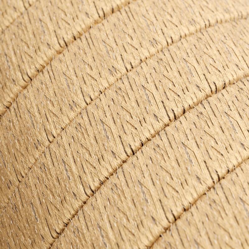 Γιρλάντα έτοιμη για χρήση, 12,5m υφασμάτινο καλώδιο πλακέ Φυσικό Σχοινί Γιούτα CN06 με 10 ντουί, γάντζο και φις