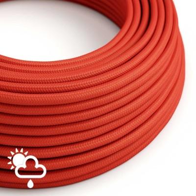 Στρογγυλό Υφασμάτινο καλώδιο Εξωτερικής χρήσης SM09 - Κόκκινο