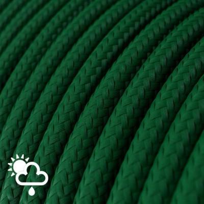 Στρογγυλό Υφασμάτινο καλώδιο Εξωτερικής χρήσης SM21 - Σκούρο Πράσινο