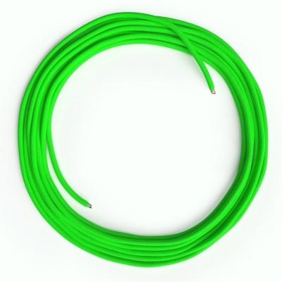 LAN - Ethernet Υφασμάτινο Καλώδιο Cat 5e RF06 Πράσινο Φωσφοριζέ χωρίς βύσματα RJ45