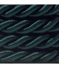 Καλώδιο Σχοινί - Τριχιά XL, καλώδιο 3x0,75 καλυμμένο με ύφασμα και Γυαλιστερό Σκούρο Πράσινο Βαμβάκι. Διάμετρος 16 mm.