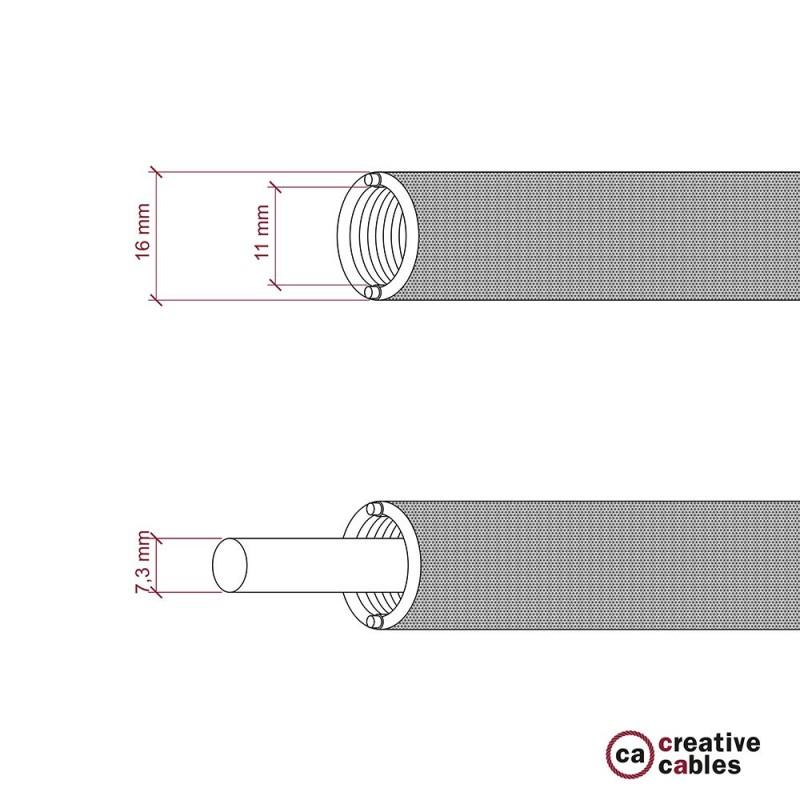 Creative-Tube Σωλήνας εύκαμπτος, μαύρο υφασμάτινο κάλυμμα RM04, διάμετρος 16 mm για καλώδιο