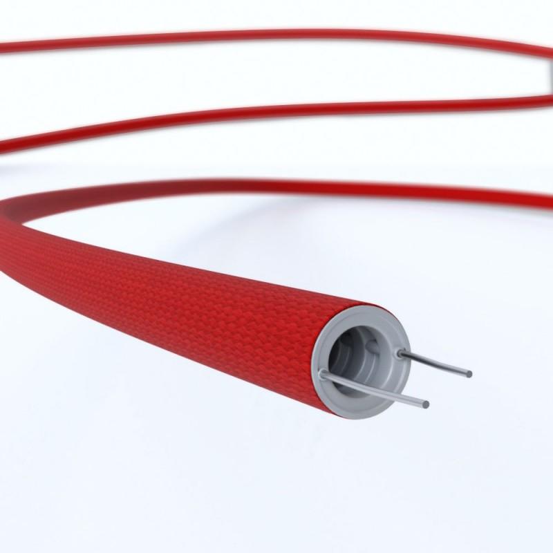 Creative-Tube Σωλήνας εύκαμπτος, κόκκινο υφασμάτινο κάλυμμα RM09, διάμετρος 16 mm για καλώδιο