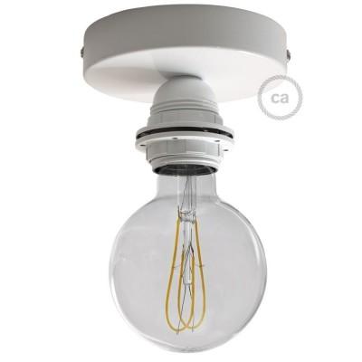 Φωτιστικό Τοίχου ή Οροφής Fermaluce Monochrome, μεταλλικό με ντουί με ροδέλες