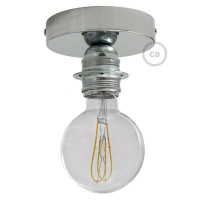 Φωτιστικό Τοίχου ή Οροφής Fermaluce Glam, μεταλλικό με ντουί με ροδέλες