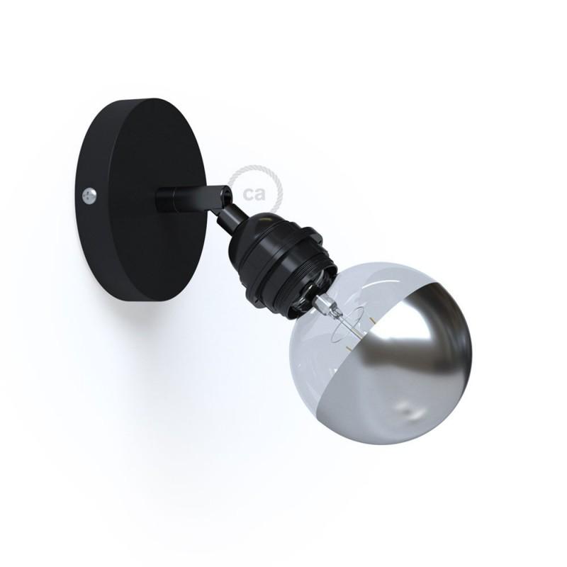 Φωτιστικό Τοίχου ή Οροφής Fermaluce Metallo 90° Monochrome, κινητό μεταλλικό με ντουί με ροδέλες