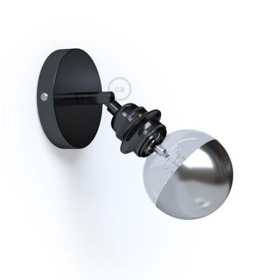 Φωτιστικό Τοίχου ή Οροφής Fermaluce Urban 90° Monochrome, κινητό μεταλλικό με ντουί με ροδέλες