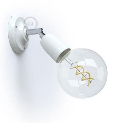 Φωτιστικό Τοίχου ή Οροφής Fermaluce 90° Monochrome, κινητή απλίκα πορσελάνης μαύρη ή λευκή