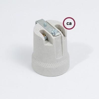 Ντουί Ε27 με πορσελάνινο εσωτερικό στήριγμα