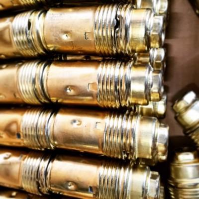 Ντουι Ε14 χρυσό με μισό σπύρωμα και λείο σώμα