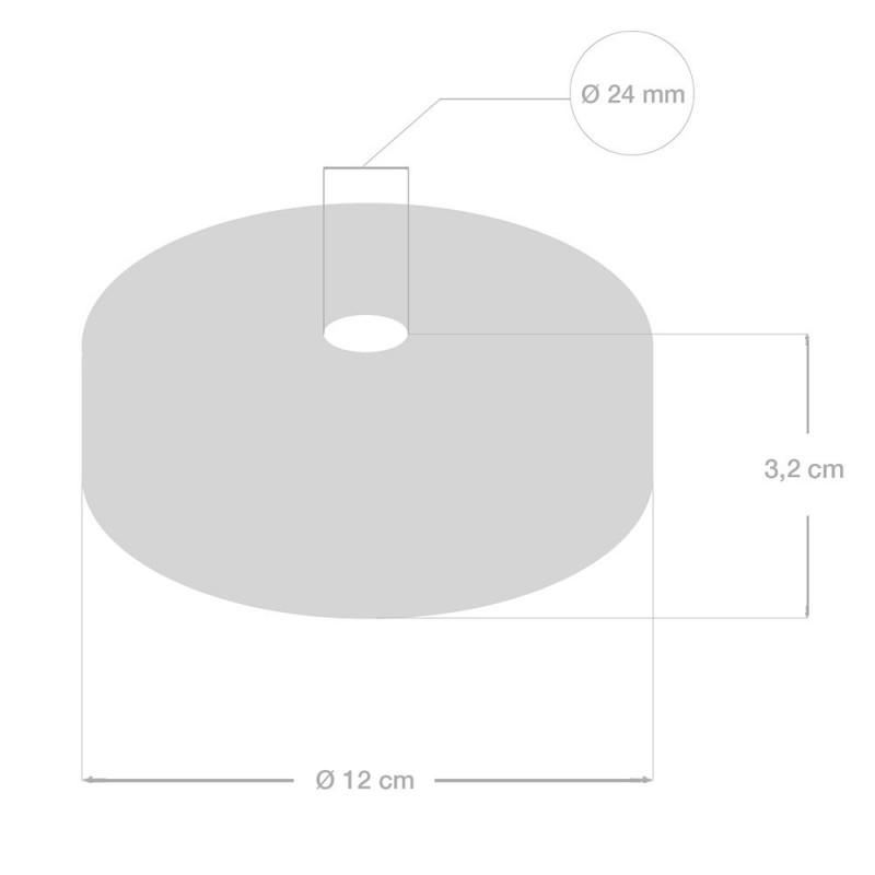 Ροζέτα Φωτιστικού Ξύλινη για Τριχιά 2XL Φ24mm