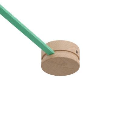 Ξύλινο Εξάρτημα Ροζέτα Στρογγυλη DIY για Καλώδιο Γιρλάντας - Σειρά Filé. Made in Italy