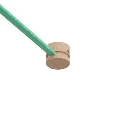 Ξύλινο Εξάρτημα Τερματικό Στρόγγυλο DIY για Καλώδιο Γιρλάντας - Σειρά Filé. Made in Italy