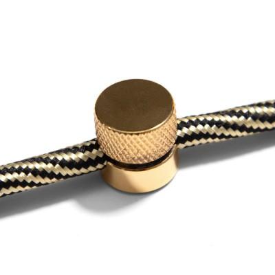 Μεταλλικό Στήριγμα Τοίχου Sarè για υφασμάτινο Καλώδιο - Χρυσό