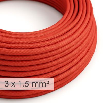 Στρογγυλό Υφασμάτινο καλώδιο μεγάλης Διατομής 3x1,50 Κόκκινο RM09