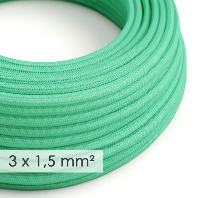 Στρογγυλό Υφασμάτινο καλώδιο μεγάλης Διατομής 3x1,50 Πράσινο Ρεγιόν-Οπάλ RH69