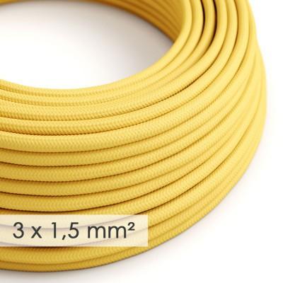 Στρογγυλό Υφασμάτινο καλώδιο μεγάλης Διατομής 3x1,50 Κίτρινο RM10