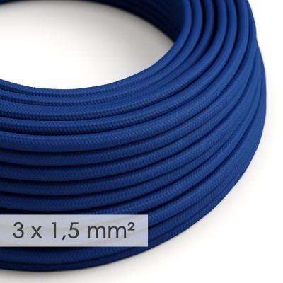 Στρογγυλό Υφασμάτινο καλώδιο μεγάλης Διατομής 3x1,50 Μπλε RM12