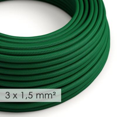 Στρογγυλό Υφασμάτινο καλώδιο μεγάλης Διατομής 3x1,50 Σκούρο Πράσινο RM21