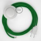Υφασματινο Καλώδιο για Φωτιστικά Δαπέδου RM06 Πράσινο - 3 m. Με διακόπτη ποδός και φις.