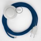Υφασματινο Καλώδιο για Φωτιστικά Δαπέδου RM12 Μπλε - 3 m. Με διακόπτη ποδός και φις.