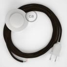 Υφασματινο Καλώδιο για Φωτιστικά Δαπέδου RM13 Καφέ - 3 m. Με διακόπτη ποδός και φις.