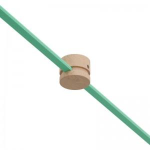 Ξύλινο Εξάρτημα Ενδιάμεσο Στρόγγυλο DIY για Καλώδιο Γιρλάντας - Σειρά Filé. Made in Italy