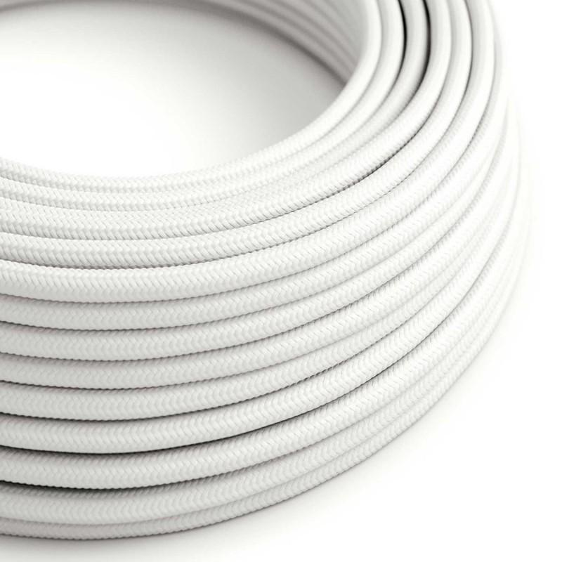 Στρόγγυλο Υφασμάτινο Καλώδιο RM01 - Λευκό