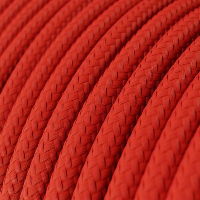Στρόγγυλο Υφασμάτινο Καλώδιο RM09 - Κόκκινο