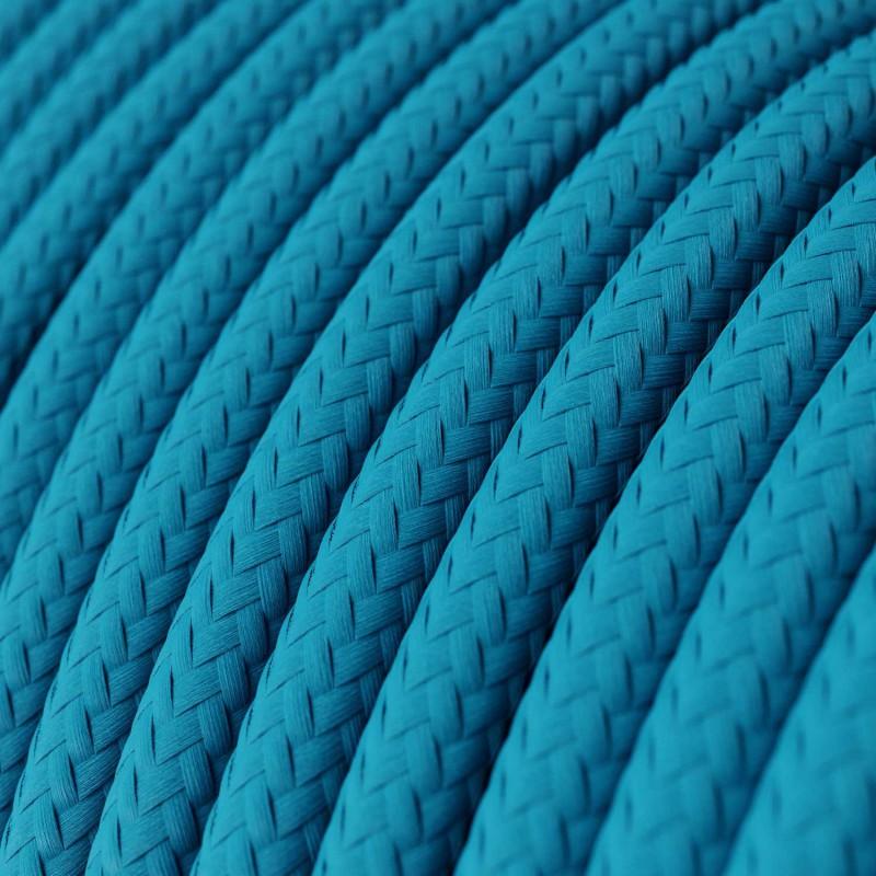 Στρόγγυλο Υφασμάτινο Καλώδιο RM11 - Γαλάζιο
