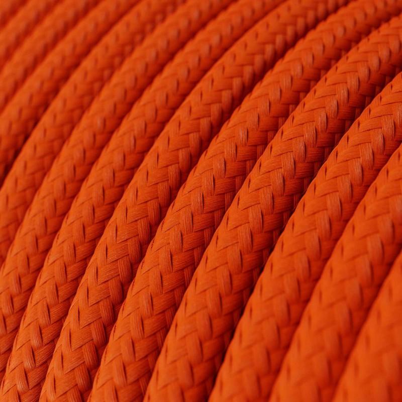 Στρόγγυλο Υφασμάτινο Καλώδιο RM15 - Πορτοκαλί