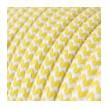 Στρόγγυλο Υφασμάτινο Καλώδιο RZ10 - Κίτρινο