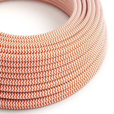 Στρόγγυλο Υφασμάτινο Καλώδιο RZ15 - Πορτοκαλί