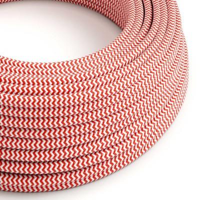 Στρόγγυλο Υφασμάτινο Καλώδιο RZ09 - Κόκκινο