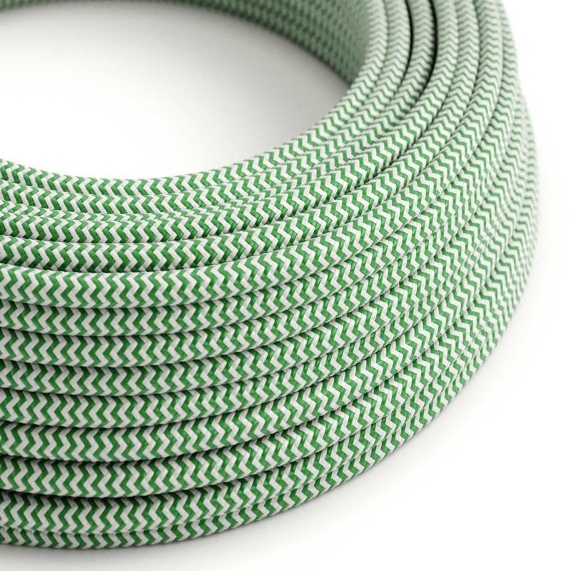Στρόγγυλο Υφασμάτινο Καλώδιο RZ06 - Πράσινο