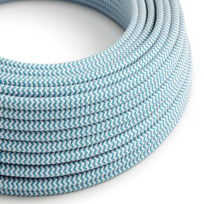Στρόγγυλο Υφασμάτινο Καλώδιο RZ11 - Γαλάζιο