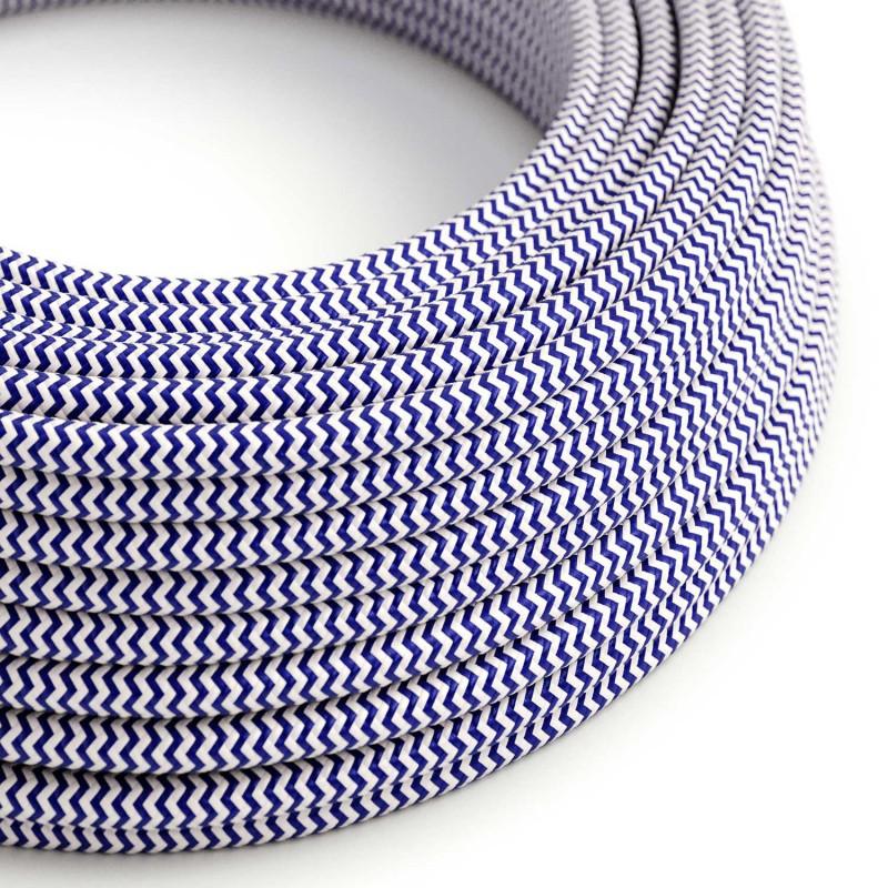 Στρόγγυλο Υφασμάτινο Καλώδιο RZ12 - Μπλε