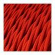 Στριφτό Υφασμάτινο Καλώδιο TM09 - Κόκκινο