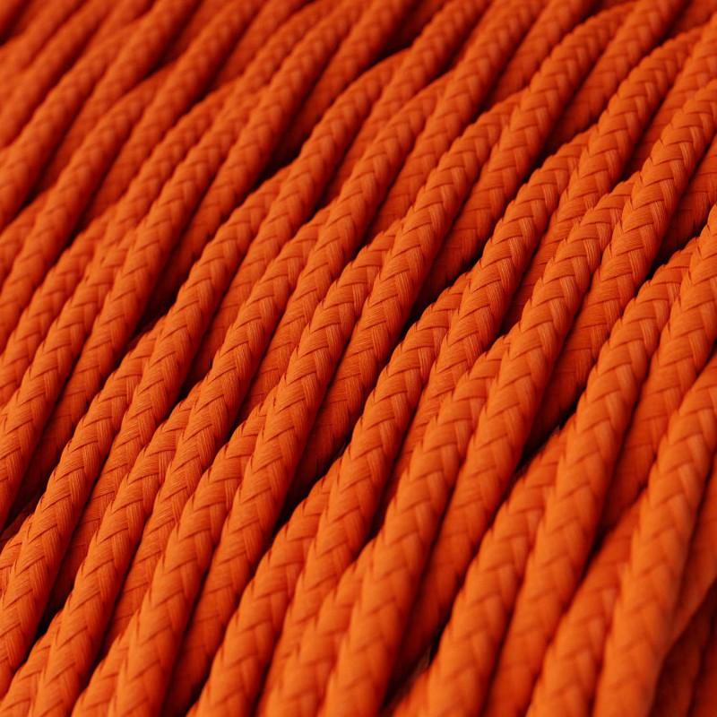 Στριφτό Υφασμάτινο Καλώδιο TM15 - Πορτοκαλί