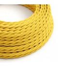 Στριφτό Υφασμάτινο Καλώδιο TM10 - Κίτρινο
