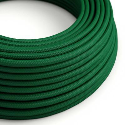 Στρόγγυλο Υφασμάτινο Καλώδιο RM21 - Σκούρο Πράσινο