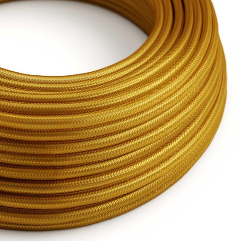 Στρόγγυλο Υφασμάτινο Καλώδιο RM05 - Χρυσό